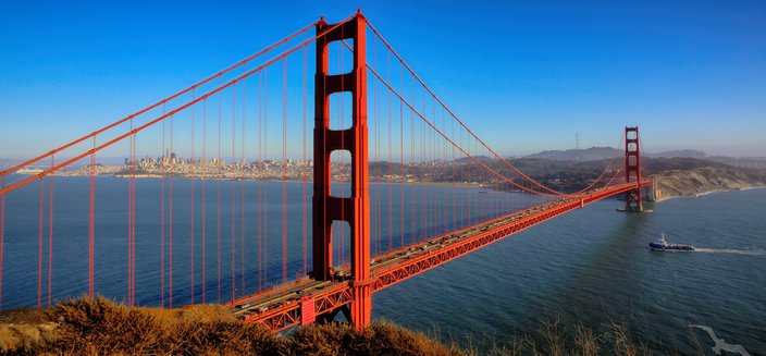 Amadea -Golden Gate Brücke in San Francisco, USA