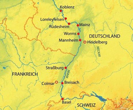 Deutschland, Frankreich, Schweiz