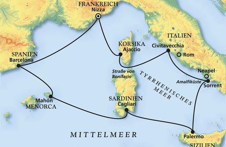 Frankreich, Italien, Spanien
