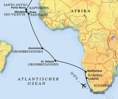 kap der guten hoffnung karte Von der Waterkant zum Kap der Guten Hoffnung   Kreuzfahrt mit Amadea