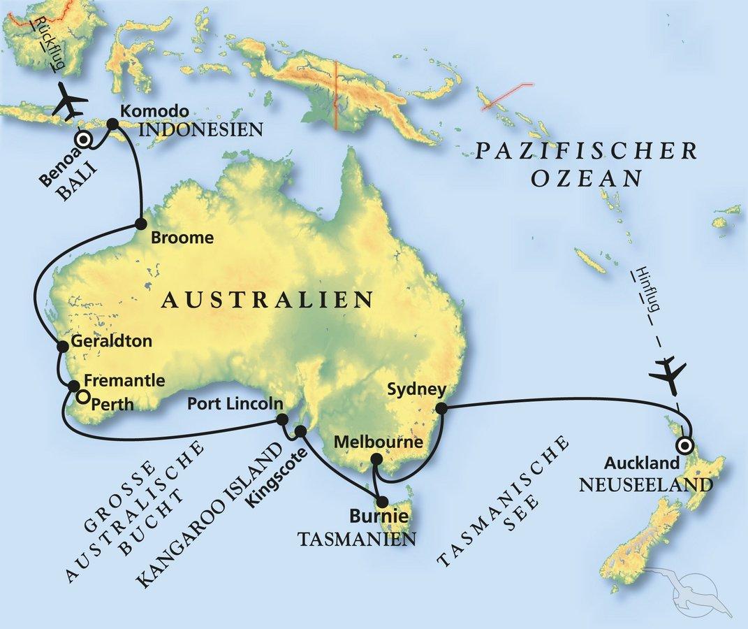 Schönheiten zwischen Auckland & Bali - Kreuzfahrt mit Albatros