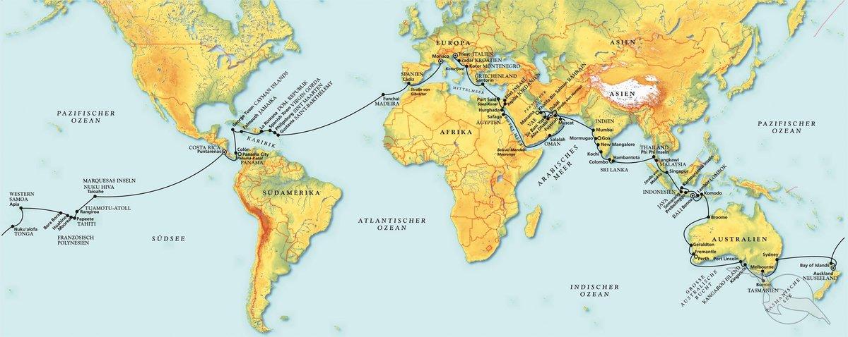 Die große Weltreise der MS Albatros - Kreuzfahrt mit Albatros