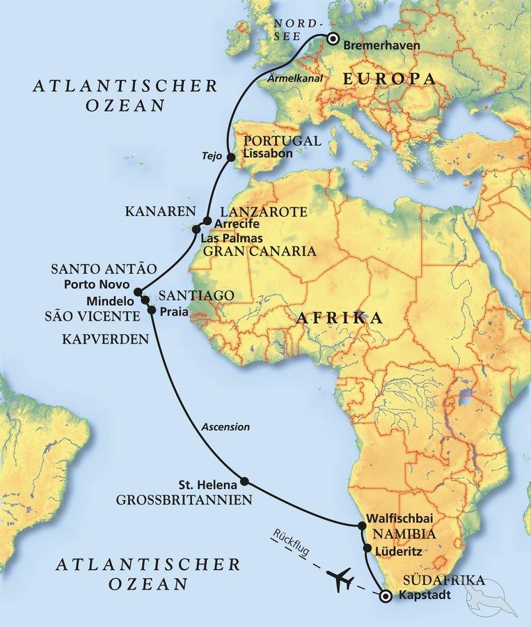Von Bremerhaven Zum Kap Der Guten Hoffnung Kreuzfahrt Mit Albatros