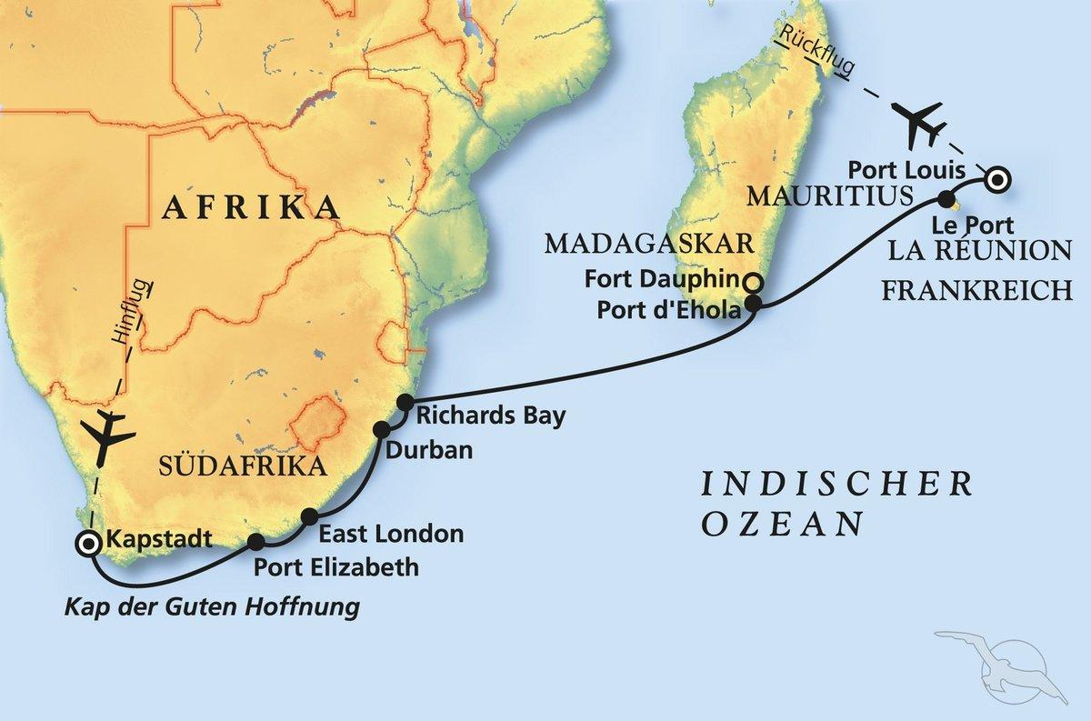 Sudafrika Paradiesische Inseltraume Kreuzfahrt Mit Artania