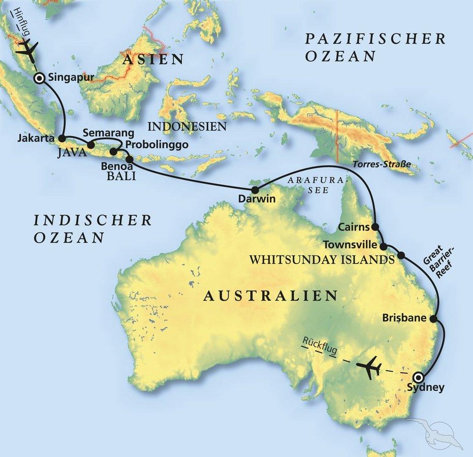 Südostasiens Exotik und Australien - Kreuzfahrt mit Artania