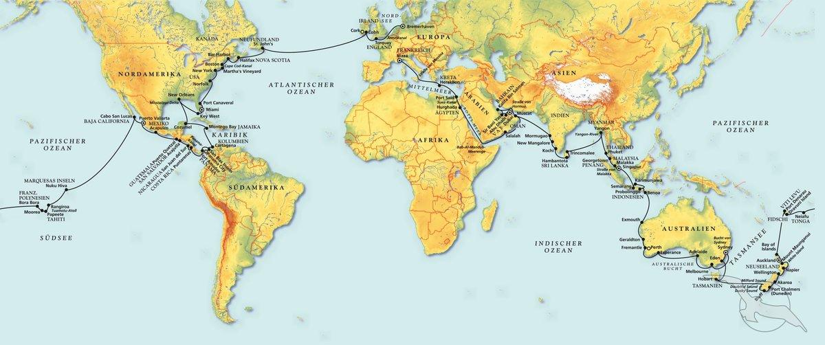 Die Große Weltumrundung - Kreuzfahrt mit Amadea