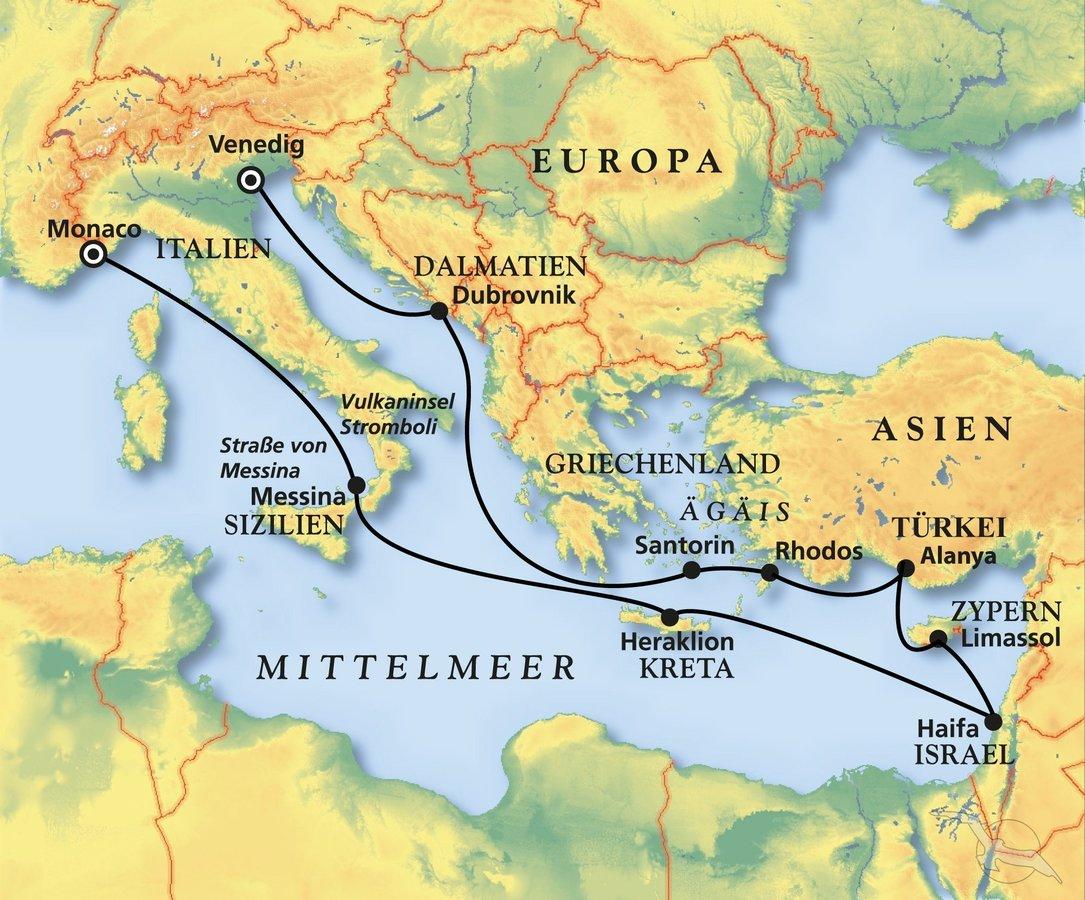 Mittelmeer Karte Europa.Der Sonne Kultur Hinterher Ins Ostliche Mittelmeer