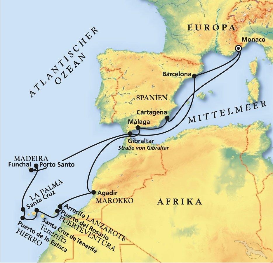 Nordpolarmeer Karte.Weihnachten Silvester Im Atlantik Kreuzfahrt Mit Amera