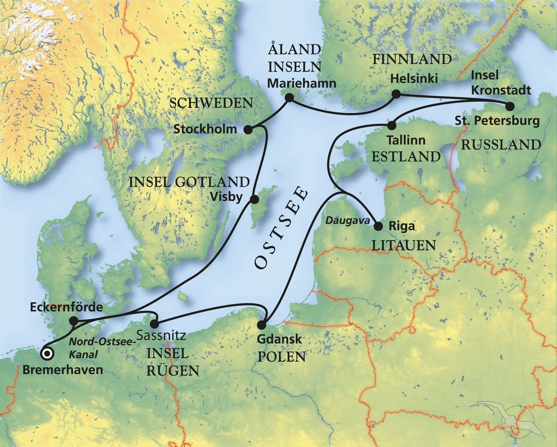 Karte Ostsee Deutschland.Ostsee Erleben Mit Ms Deutschland Kreuzfahrt Mit Deutschland