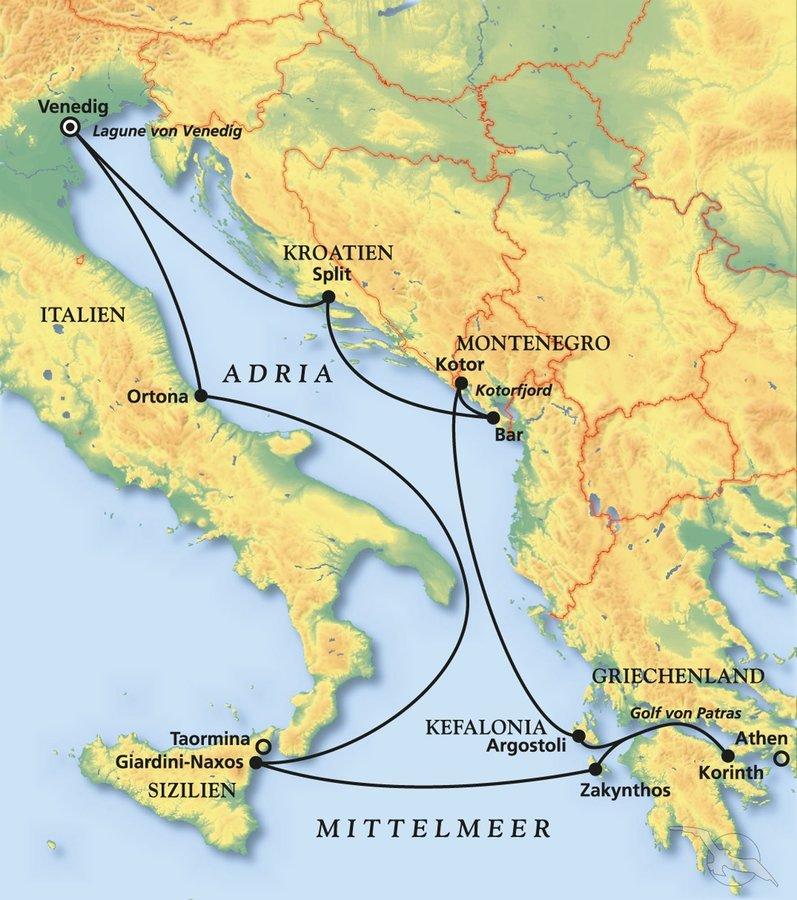 Adria Intensiv Zwischen Venedig Und Dem Peloponnes Kreuzfahrt