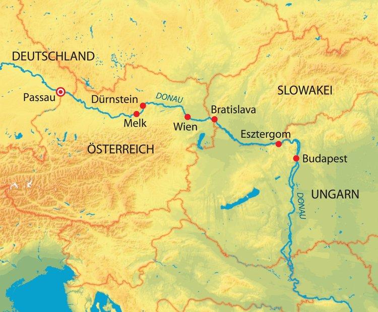 Deutschland, Österreich, Slowakei, Ungarn