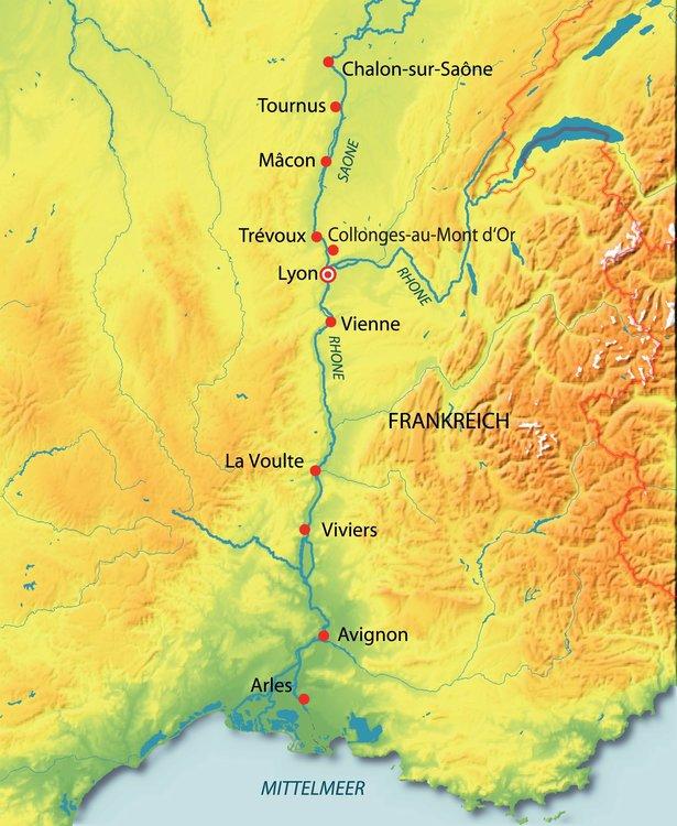 Tournus, Macon, Viviers, Avignon