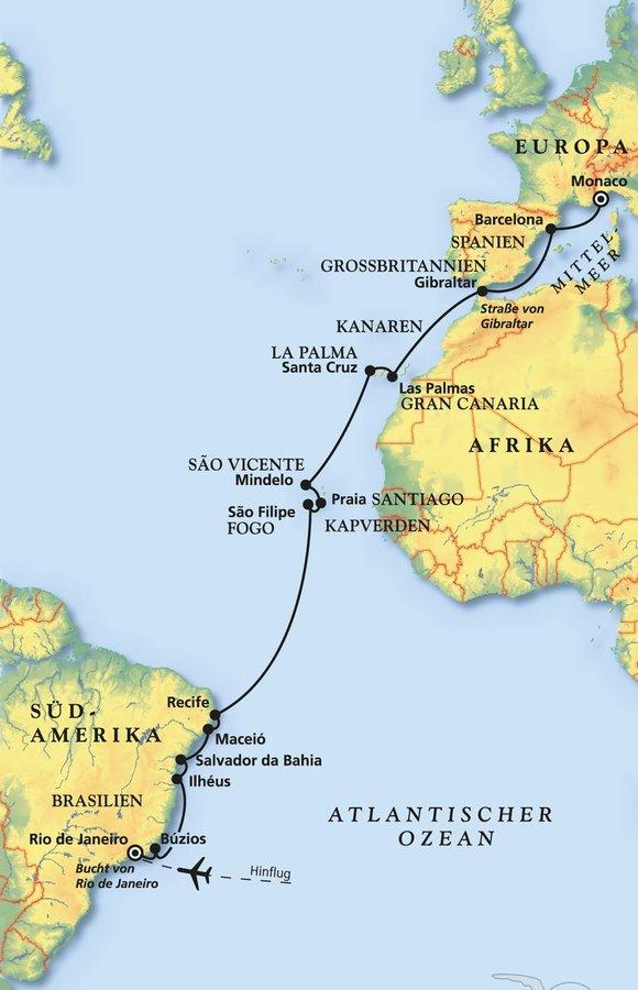 Brasiliens »Best-Of« und über den Äquator nach Europa