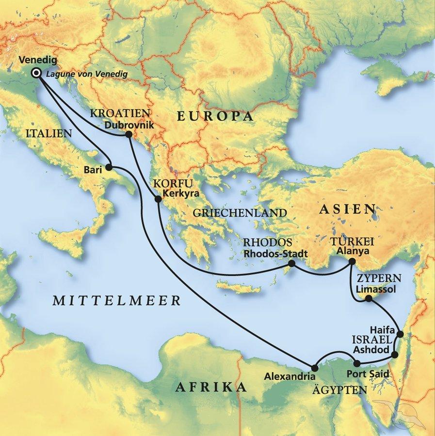 Hohepunkte Im Ostlichen Mittelmeer Kreuzfahrt Mit Artania