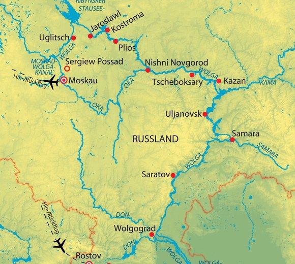 Russland, Wolga und Don - Reich der Donkosaken - Kreuzfahrt ...