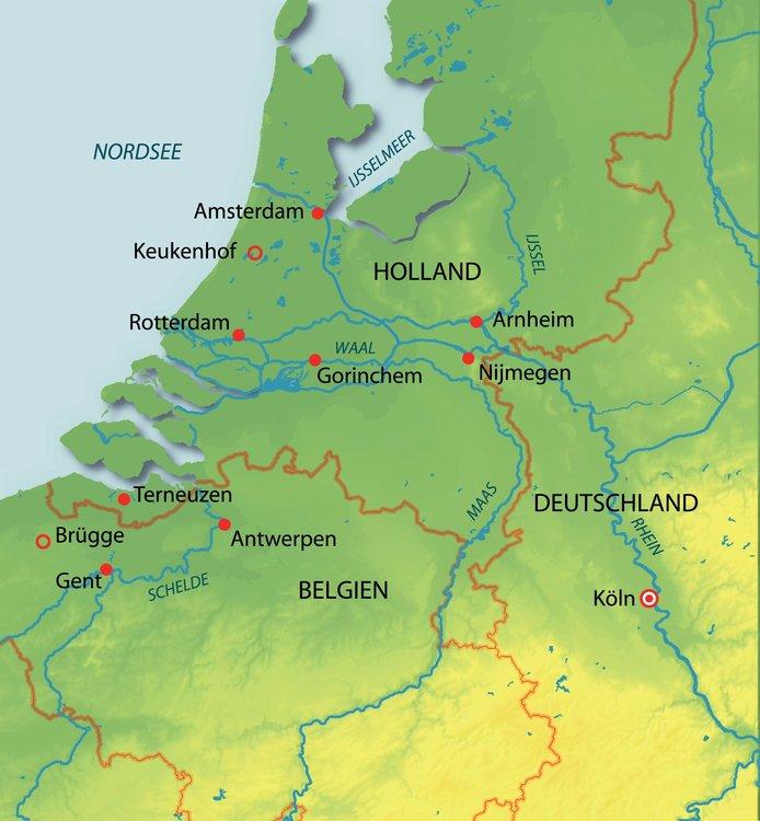 Karte Von Holland Und Belgien.Rhein Holland Und Belgien Entdecken Kreuzfahrt Mit Aurelia