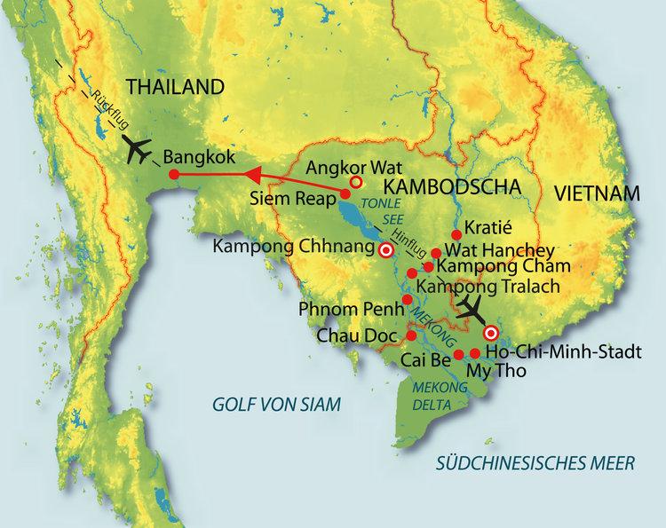 Vietnam, Kambodscha, Thailand