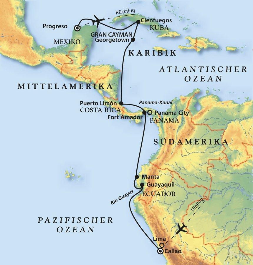 Kuba Karte Rundreise.Von Peru Nach Kuba Kreuzfahrt Mit Albatros