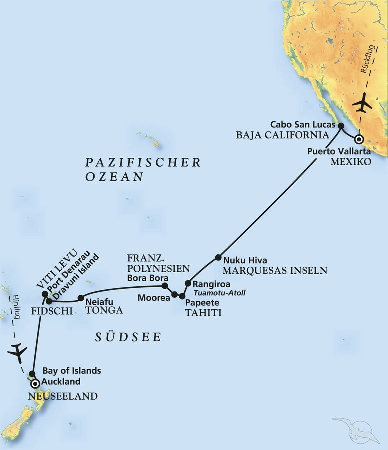 Perlen der Südsee - Kreuzfahrt mit Amadea
