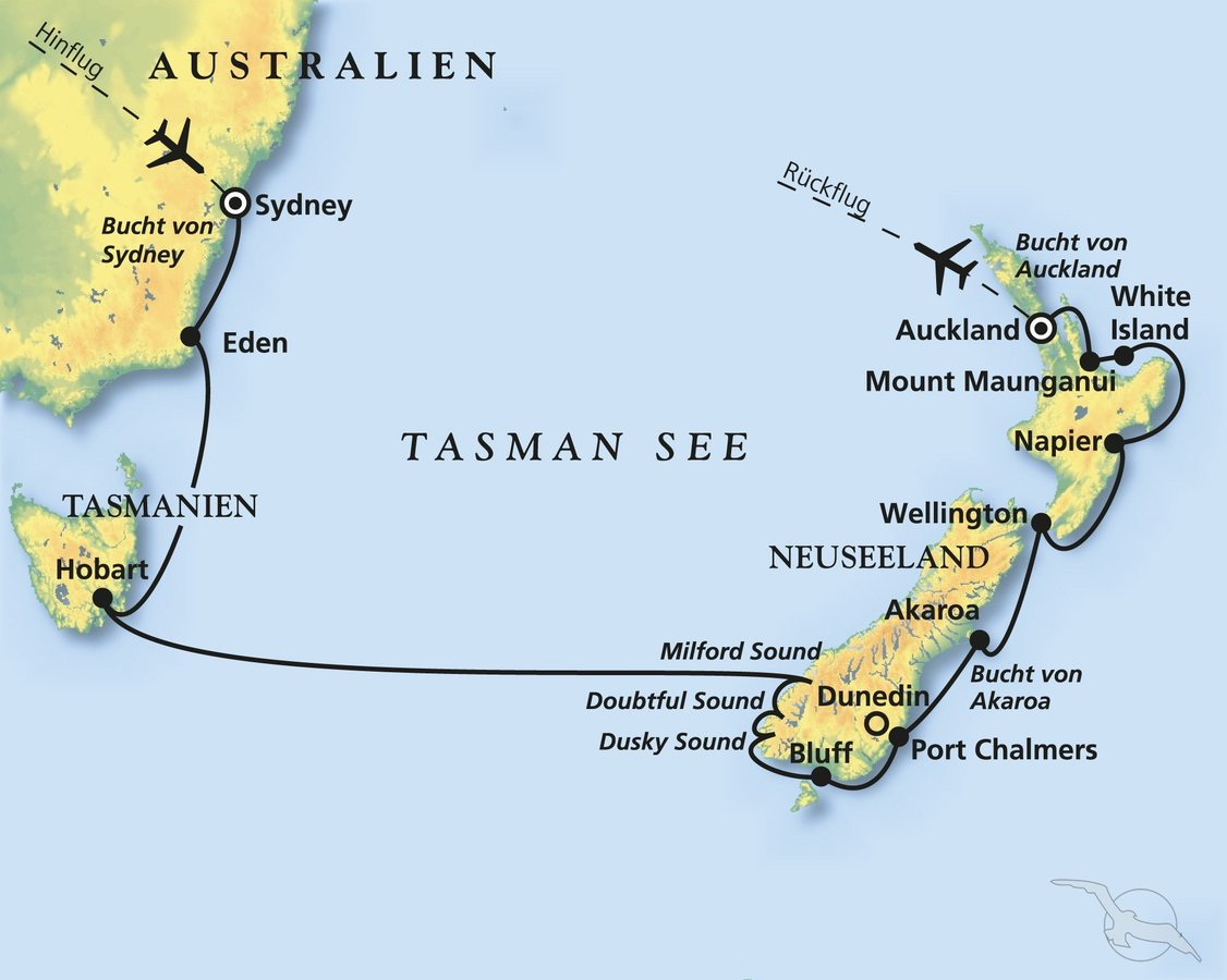 Sydney, Tasmanien und Neuseeland - Kreuzfahrt mit Amadea