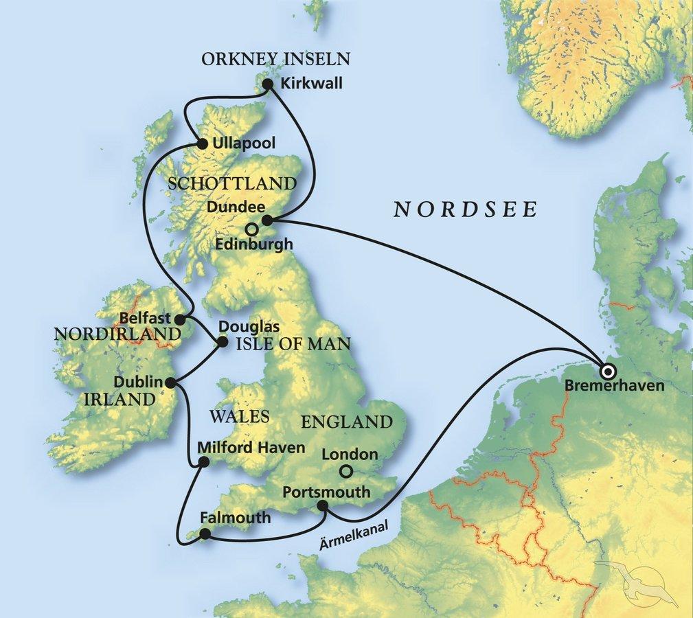 Das Beste von »Great Britain« - Kreuzfahrt mit Albatros