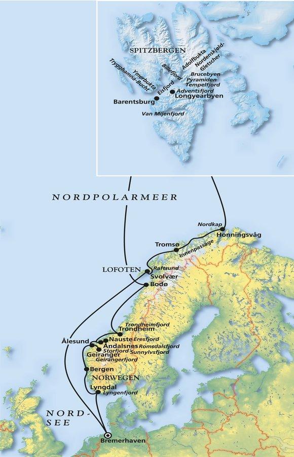 Briefe Von Norwegen Nach Deutschland : Spitzbergen kreuzfahrt richtung nordpol mit phoenix reisen