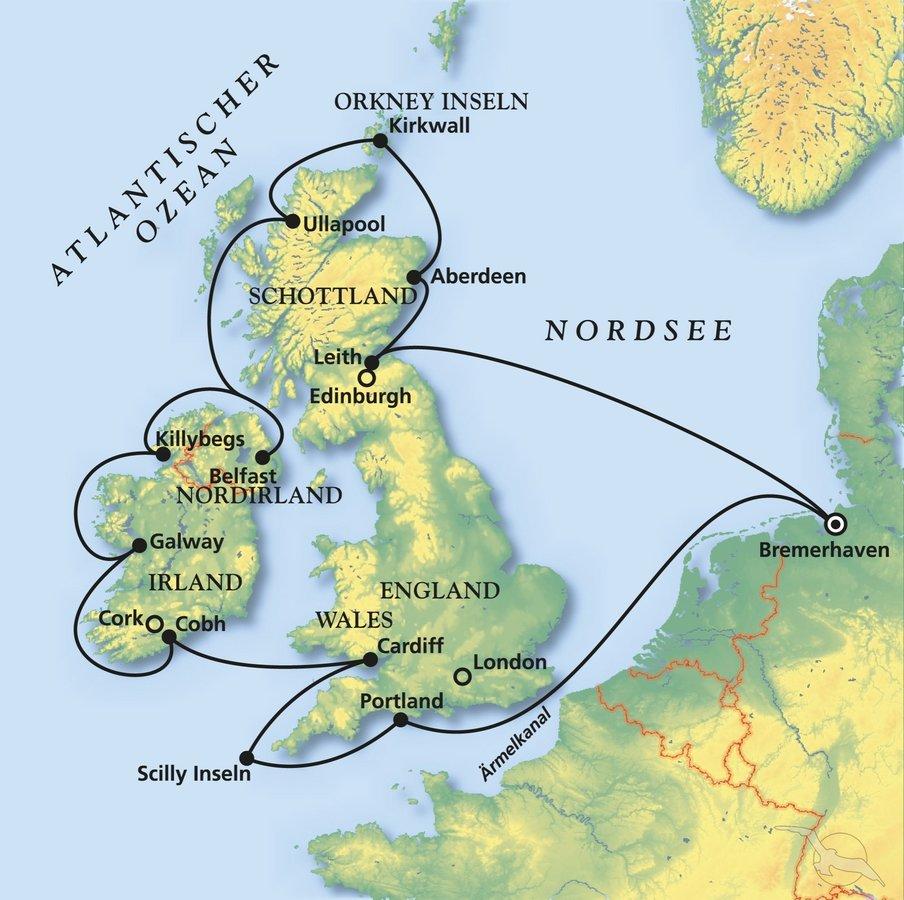 Die Britischen Inseln mit MS Deutschland - Kreuzfahrt mit Deutschland