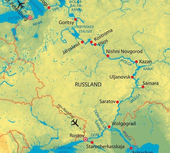 Russland Wolga Und Don Zarenreich Kreuzfahrt Mit Aleksandra