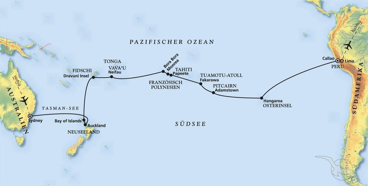 Südseezauber zwischen Australien und Peru - Kreuzfahrt mit ...