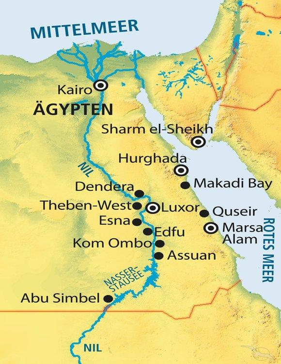 Karte ägypten Nil.ägypten Total Online Buchen Mit Phoenix Reisen Gmbh