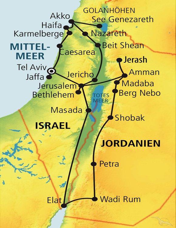 Jerusalem Karte Deutsch.Rundreise Heiliges Land Online Buchen Mit Phoenix Reisen Gmbh