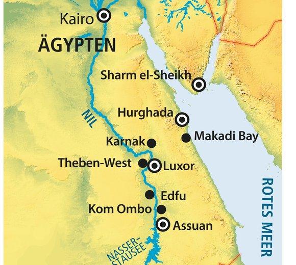 Makadi Bay Karte.Nilkreuzfahrt Amun Baden Im Jaz Makadi Oasis Resort Club