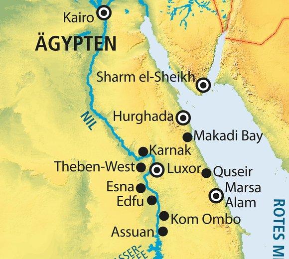 Agypten Urlaubsorte Karte Goudenelftal